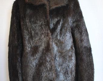Vintage FOX FUR COAT , women's fur coat ........(283)