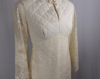 RARE Vintage Alfred Shaheen Caftan in Ivory
