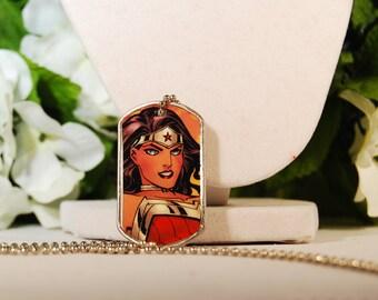 Wonder Woman Dog Tag Necklace