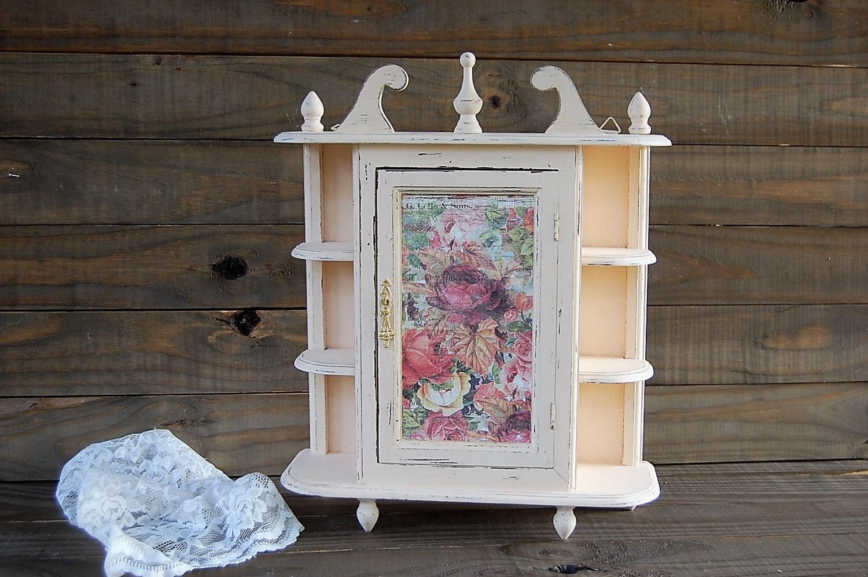 interesting shabby chic kitchen cabinet   Wall Cabinet Shabby Chic Kitchen Curio Spice by ...
