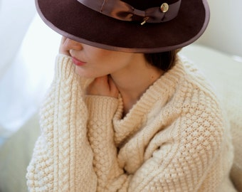 Chocolate Julia Trilby hat