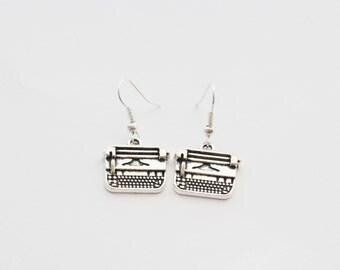 Writer Earrings, Typewriter Earrings,  Writer Gifts, Writer Jewelry, Typewriter Jewelry, Writing Gifts, Custom Writer Gift, Author Gift