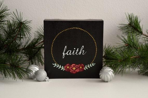 Faith Hand Lettered Canvas Art, Hand Painted Canvas // Wall Art, Wall Decor, Home Decor