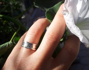 Engagement & wedding ring/ ooak design ring/ band ring