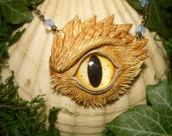 Hyakkin - handsculpted Pendant with fantastic Phoenix Eye