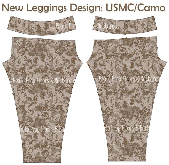 USMC Leggings Yoga Pants Marine Wife Spouse Girlfriend