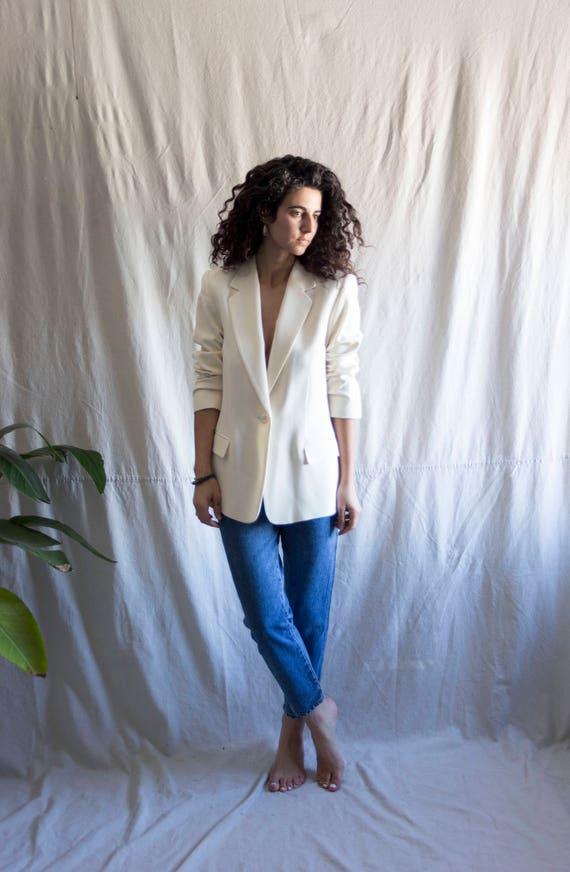 White Merengue Wool Blazer by Pendleton