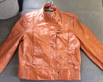 Vintage Burnt Orange leather jacket