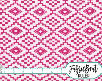 HOT PINK AZTEC Fabric by the Yard, Fat Quarter Hot Pink Fabric Zig Zag Pink Fabric Quilting Fabric 100% Cotton Fabric Apparel Fabric a4-21