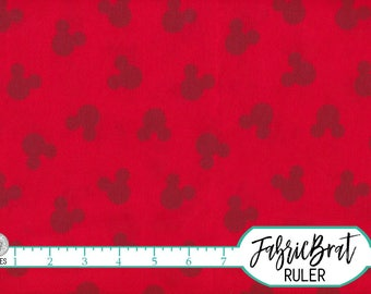 MICKEY MOUSE Fabric by the Yard, Fat Quarter DISNEY Fabric Red Mickey Shadow Fabric 100% Cotton Fabric Quilting Fabric Apparel Fabric t6-40