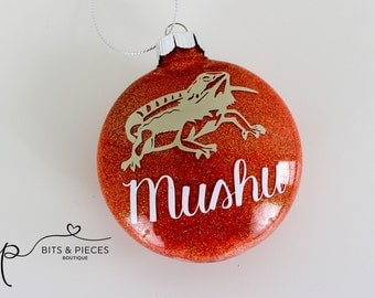 Personalized Bearded Dragon Christmas Ornament