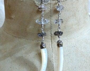 Diamond Tusk Earrings