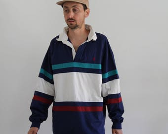 Rugby Colorblock 90s Long Sleeve Large