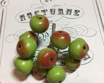 Vintage millinery fruit green Apples