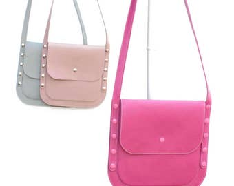 Pink leather cross body purse convenient when you want to have with you only the essentials