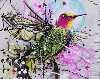 Ana's Hummingbird-Abstract