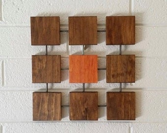 Josef Wall Sculpture, Wood Wall Art, Mid-Century Modern, Minimal, Geometric, Retro, Contemporary, Abstract, Wall Decor, Art Objects