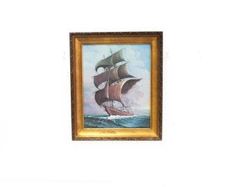 Nautical Clipper Ship Print By Andres Orpinas