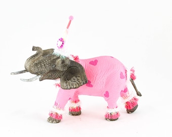 "Party Animal ""Haley"" The Elephant - painted carnival, circus, birthday decor"