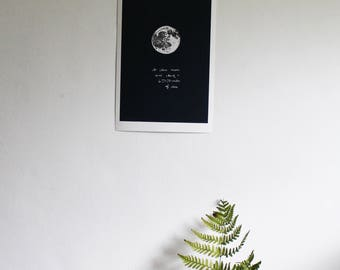 I love you to the moon and back print * limited edition * giclee * love *  zodiac * space * lunar * astronomy * nursery *