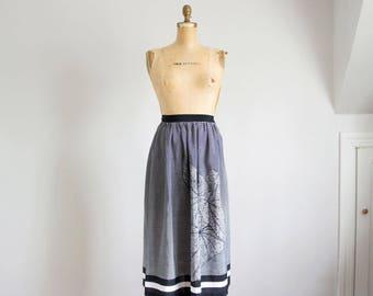 80s Mr Mort b&w caladium print skirt