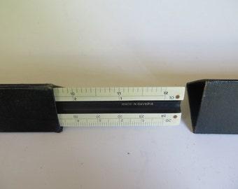 Vintage Triangular Ruler//3 sided Ruler//A W Faber Ruler