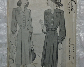 "Swank 1947 tailored dress pattern bust 32"" beautiful silhouette *no instructions*"