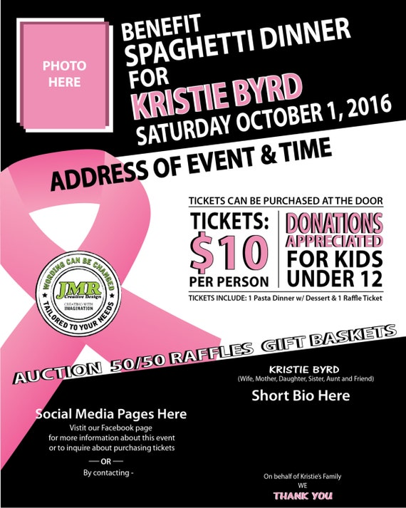 cancer benefit flyer fundraiser flyer cancer ribbon event. Black Bedroom Furniture Sets. Home Design Ideas