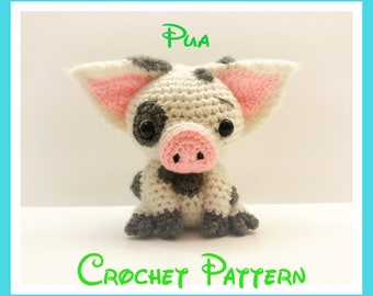 Crochet Pua Pattern From Disney's Moana PATTERN ONLY