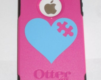 Vinyl Heart on the cell phone