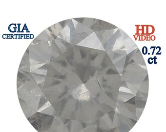 GIA CERTIFIED 5.59 MM 0.72 Ct Natural Loose Diamond Round Brilliant White I3 L6432 Bkk