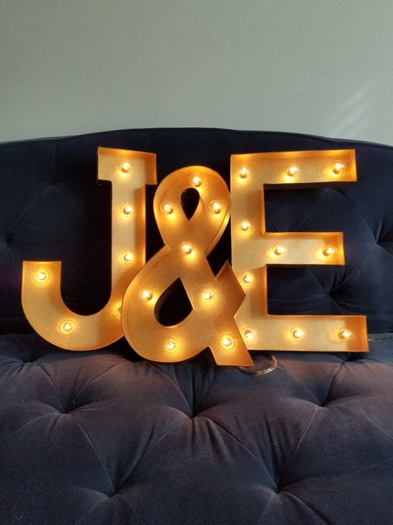 marquee light up letters gold light up letter lights marquee bulb paper mache electric 23581 | il 570xN.1155270481 axtw