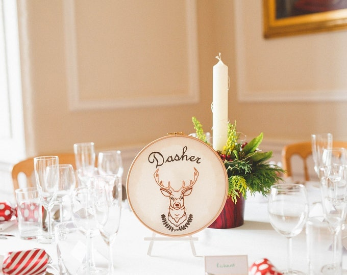 Featured listing image: Wedding table centrepieces, custom embroidery, Handmade in the UK