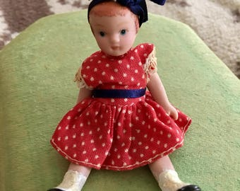 Very Tiny Patsy Bisque Miniatue Doll--Handmade, Used Oil Paint
