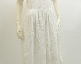 Boho Chic white lace dress