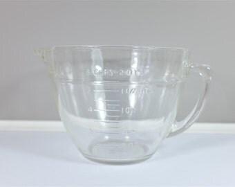 Vintage giant Fire King glass measuring cup - Retro large Fire King - Glass 1,5 liter / 8 cups measuring cup - Vintage kitchen