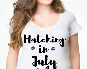 Maternity T-Shirt CUSTOM Pregnancy Easter Tee Shirt Funny Birth Announcement True Maternity Top