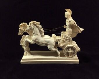 Vintage Roman Horse Chariot Etsy