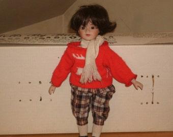 Christmas China Doll
