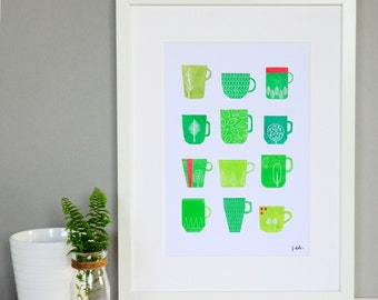 Nature Pattern Mugs Print