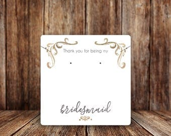 Jewelry Display Cards | Earring Cards | Necklace Cards | Wedding Jewelry Cards | Bridesmaid Thank You