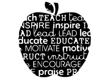 Teacher's Apple Decal