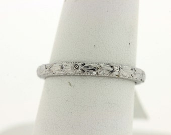 18k white gold Flower band