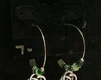 Celtic Knot Hoop Earrings