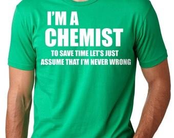 Chemist T-Shirt Gift For Chemist Chemistry Teacher Tee Shirt Birthday Gift Shirt
