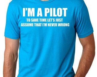 Pilot T-Shirt Aviator Pilot Funny Profession Tee Shirt Birthday Gift