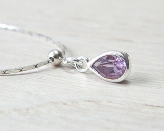 Amethyst necklace February bisthstone Delicate silver Amethyst necklace February Birthday Gift Amethyst Jewelry Amethyst birthstone necklace