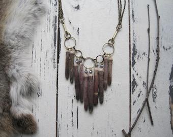 Sea urchin spine necklace/Statement necklace/ Bib necklace/Nature/ Sea jewelry/ Beach jewelry/ Nautical/Organic/ Shell necklace