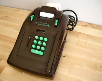 Victor 1930's Bakelite Adding Machine ~ Electric 10 Key ~ Vintage Calculator