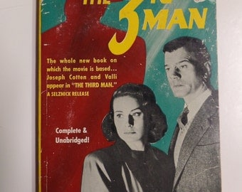 The 3rd Man by Graham Greene Bantam Books #797 1950 Vintage Mystery Movie Tie-In Paperback